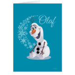 Olaf Snowflakes Greeting Cards