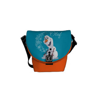 Olaf Snowflakes Messenger Bags
