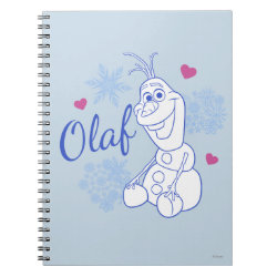 Photo Notebook (6.5' x 8.75', 80 Pages B&W) with Cute Frozen's Olaf Line Drawing with Snowflakes and Hearts design