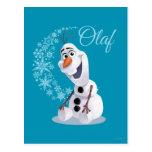 Olaf Snowflakes Postcard
