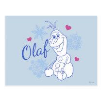 Olaf | Snowflakes Postcard