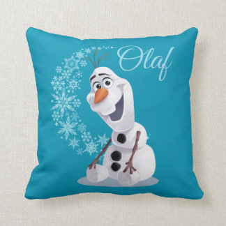 Olaf Snowflakes Throw Pillow