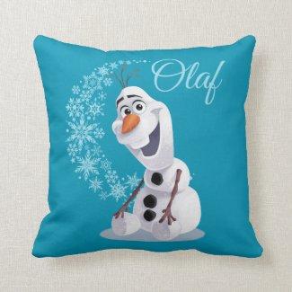 Olaf Snowflakes Throw Pillows
