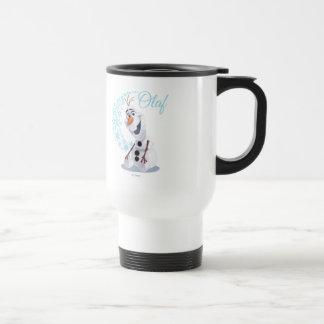 Olaf Snowflakes Travel Mug