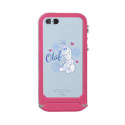 Incipio Feather Shine iPhone 5/5s Case with Cute Frozen's Olaf Line Drawing with Snowflakes and Hearts design