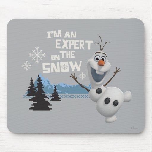 Olaf, soy un experto en la nieve alfombrilla de ratón