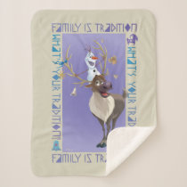 Olaf & Sven | Family is Tradition Sherpa Blanket