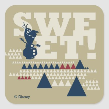 Disney Themed Olaf | Sweet! Square Sticker