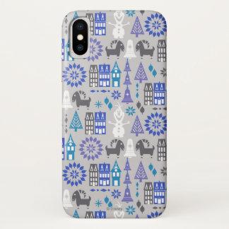 Olaf   Warm Hugs All Around Pattern iPhone X Case