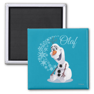 Olaf | Wave of Snowflakes 2 Inch Square Magnet