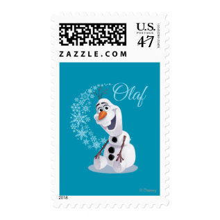 Olaf | Wave of Snowflakes Postage at Zazzle