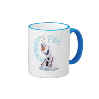 Olaf   Wave of Snowflakes Ringer Mug