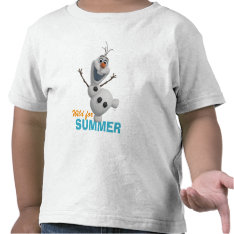 Olaf - Wild for Summer Shirt at Zazzle