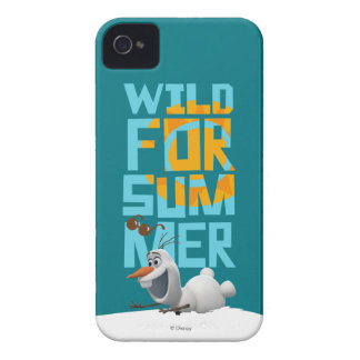 Olaf | Wild for Summer with Orange Circle iPhone 4 Case