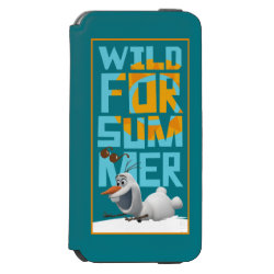 Incipio Watson™ iPhone 6 Wallet Case with Frozen's Olaf Wild for Summer design