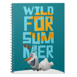 Photo Notebook (6.5' x 8.75', 80 Pages B&W) with Frozen's Olaf Wild for Summer design