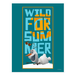 Postcard with Frozen's Olaf Wild for Summer design