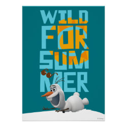 Matte Poster with Frozen's Olaf Wild for Summer design