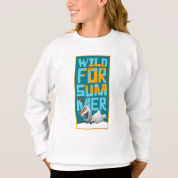 Girls' Hanes ComfortBlend® Sweatshirt with Frozen's Olaf Wild for Summer design