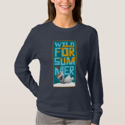Women's Basic Long Sleeve T-Shirt with Frozen's Olaf Wild for Summer design