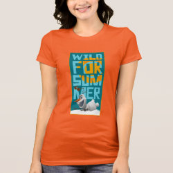 Women's Bella Jersey T-Shirt with Frozen's Olaf Wild for Summer design
