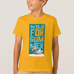 Kids' Hanes TAGLESS® T-Shirt with Frozen's Olaf Wild for Summer design