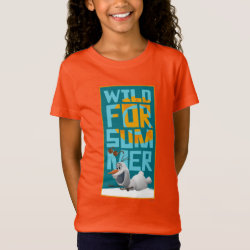 Girls' Fine Jersey T-Shirt with Frozen's Olaf Wild for Summer design