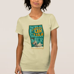 Women's American Apparel Fine Jersey Short Sleeve T-Shirt with Frozen's Olaf Wild for Summer design