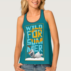 Women's All-Over Print Racerback Tank Top with Frozen's Olaf Wild for Summer design