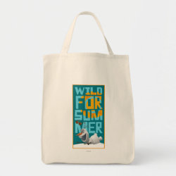 Grocery Tote with Frozen's Olaf Wild for Summer design