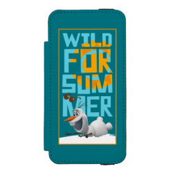 Incipio Watson™ iPhone 5/5s Wallet Case with Frozen's Olaf Wild for Summer design