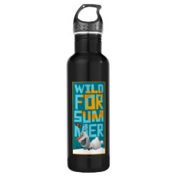 Water Bottle (24 oz) with Frozen's Olaf Wild for Summer design