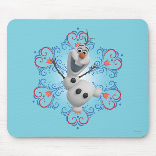 Olaf with Heart Frame Mouse Pads
