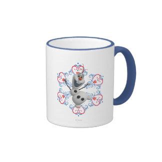 Olaf with Heart Frame Ringer Mug