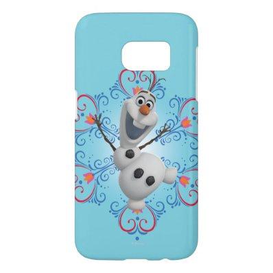 Olaf with Heart Frame Samsung Galaxy S7 Case