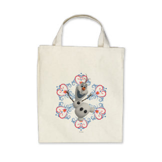 Olaf with Heart Frame Tote Bag