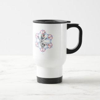 Olaf with Heart Frame Travel Mug