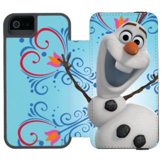 Olaf with Heart Frame Incipio Watson™ iPhone 5 Wallet Case