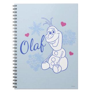 Olaf y copos de nieve libreta