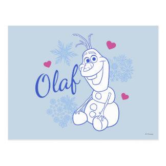 Olaf y copos de nieve tarjeta postal