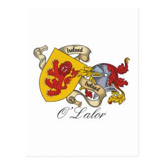 O'Lalor Family Crest Postcard