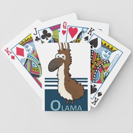 Olama badge bicycle playing cards