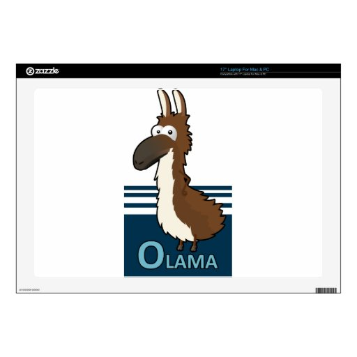 "Olama badge skin for 17"" laptop"