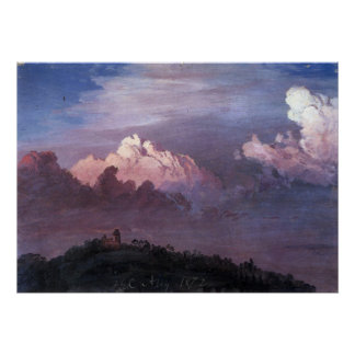 Olana in the clouds by Frederic Edwin Church Print