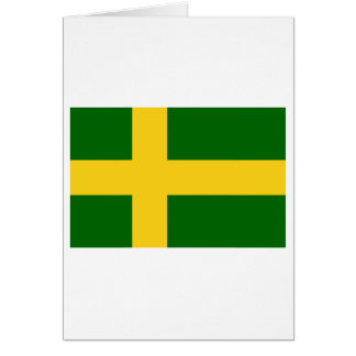 Öland flag (unofficial) card
