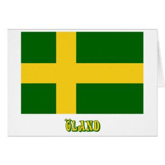 Öland flag with name (unofficial) card