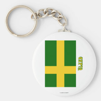 Öland flag with name (unofficial) keychain