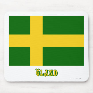 Öland flag with name (unofficial) mouse pad