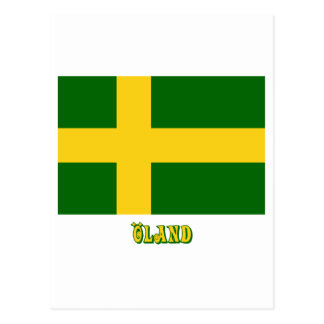Öland flag with name (unofficial) postcard
