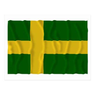 Öland waving flag (unofficial) postcard